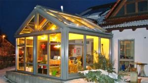 Wohnwintergarten mit modernen Profilen und hochwertiger Verglasung gem. EnEV 2014