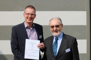 Rainer Trauernicht, 2. Vorsitzender, TS-Alu und Dr. Steffen Spenke, 1. Vorsitzender, Wintergartentage 2017